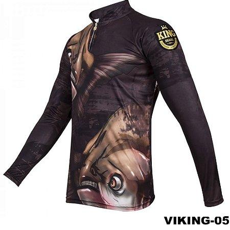 Camiseta de Pesca King Com Proteção Solar UV50+ - Viking 05
