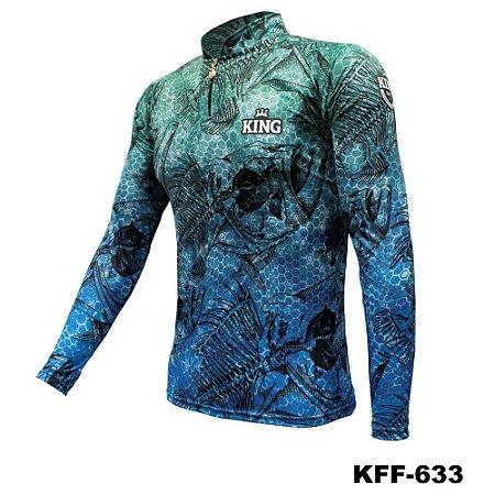 Camiseta de Pesca King Com Proteção Solar UV50+ - KFF633