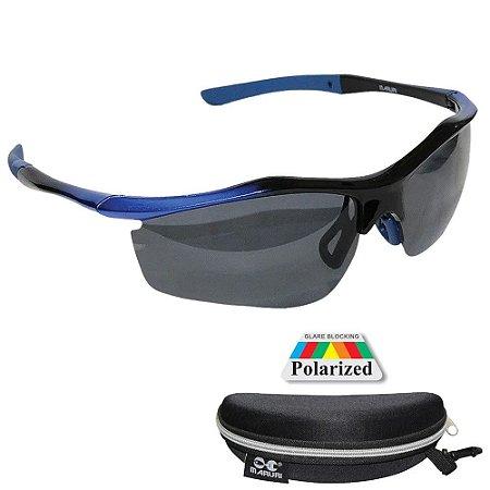 Óculos Polarizado Maruri DZ6528 Lente Espelhada Azul