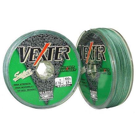 Linha Multifilamento Marine Sports Vexter Green 0,25mm 25lbs 100 Metros