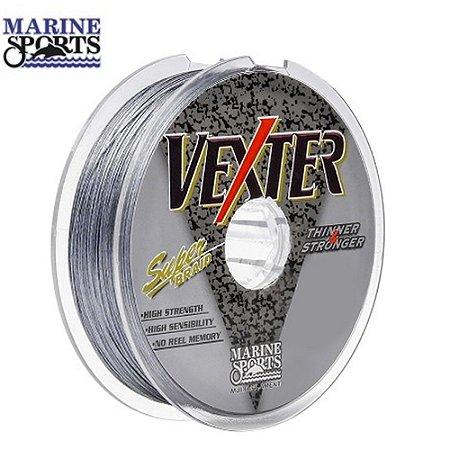Linha Multifilamento Marine Sports Vexter Cinza 0,25mm 25lbs 100 Metros