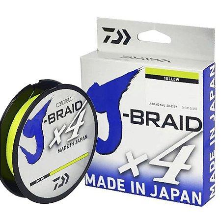 Linha Multifilamento Daiwa J-Braid X4 0,21mm 20lb 270m Amarela