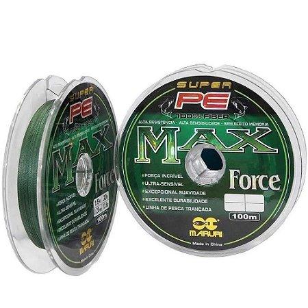 Linha Multifilamento Maruri Max Force PE 0.60mm 132lbs 100m