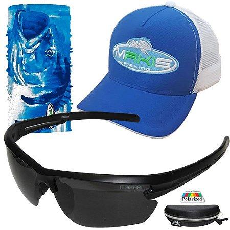 Kit Proteção Makis Tube Neck Bone e Oculos DZ6624 Polarizado