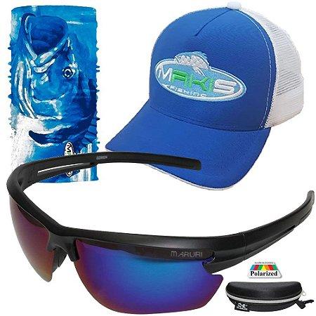 Kit Proteção Makis Tube Neck Bone e Oculos DZ6575 Polarizado