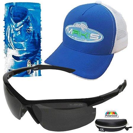 Kit Proteção Solar Makis Tube Neck Bone e Oculos 6638 Preto