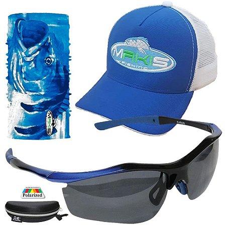 Kit Proteção Solar Makis Com Tube Neck Bone e Oculos DZ6528