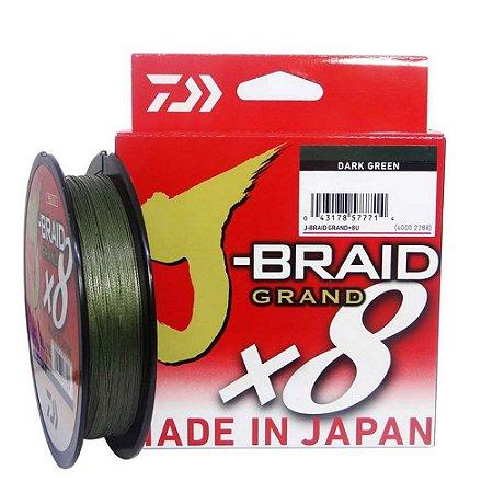 Linha Multifilamento Daiwa J-Braid Grand x8 135m 0,28mm 30lb