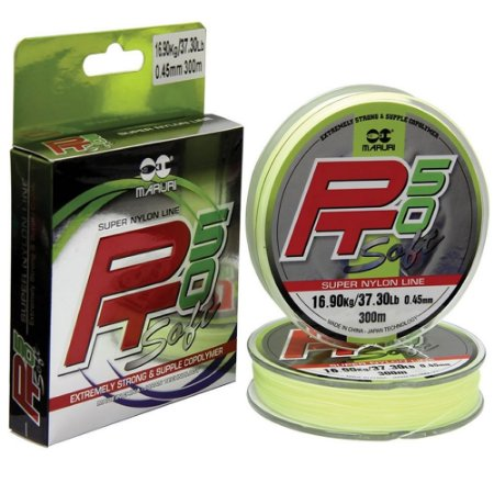 Linha Pt50 Soft Super Nylon Maruri 0,35mm 18lbs/8kg - 300m