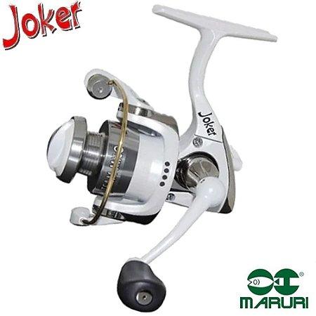 Molinete Maruri Ultra Light Joker Milo Branco Com 4 Rolamentos