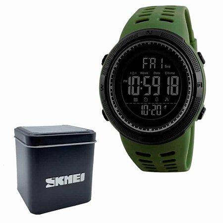 Relógio Masculino Skmei Led Digital 1251 A Prova D'Água - Verde