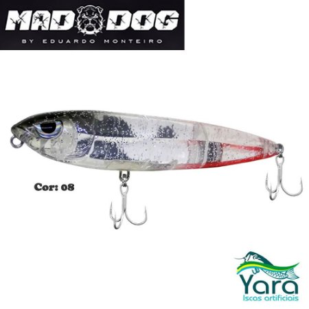 Isca Artificial Yara Mad Dog 12cm 26g By Eduardo Monteiro Cor 08