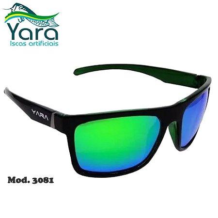 Óculos Polarizado Para Pesca Yara Dark Vision 3081 Lente Verde