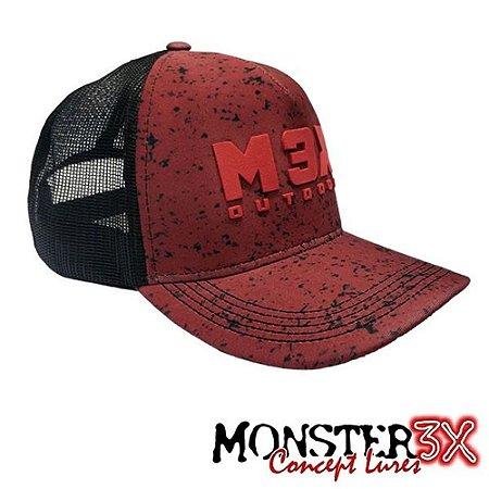 Boné Outdoor Ultra Red Monster 3X Original Com Regulagem