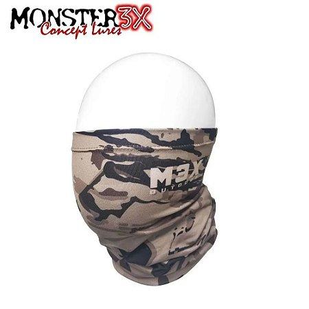 Máscara de Proteção Solar Bandana Monster 3X Brown 01