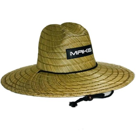 Chapéu de Palha Makis Fishing Pierside MC-01 Natural Importado