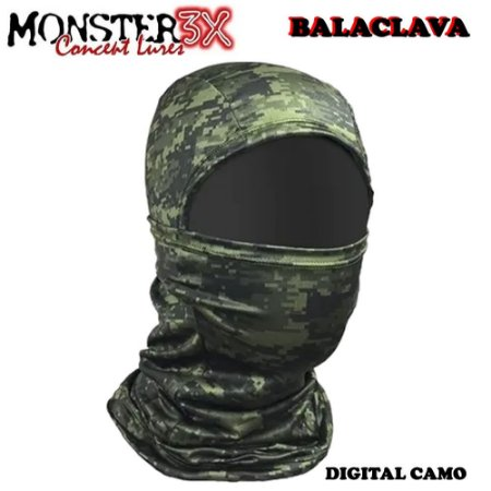 Mascara Balaclava de Proteção Solar Monster 3x Digital Camo