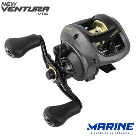 Nova Carretilha Marine New Ventura VT10 Drag 4Kg Recolhimento 7.0:1
