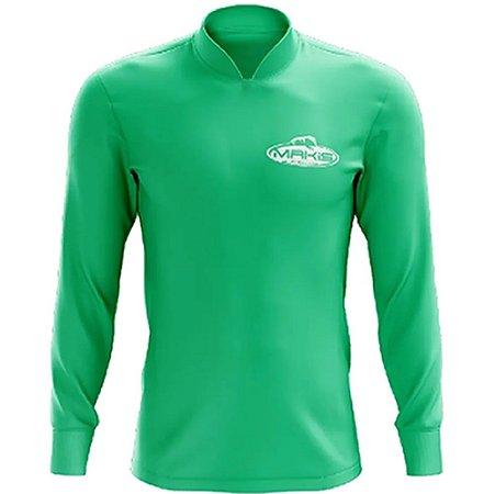 Camisa Esportiva Com Uv50 Makis Fishing Clean Color Verde Barcelona MK-16