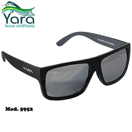 Óculos Polarizado Para Pesca Yara Dark Vision 5952 Cinza Espelhado