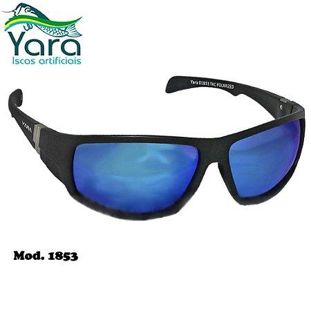 Óculos Polarizado Para Pesca Yara Dark Vision 1853 Azul Espelhado