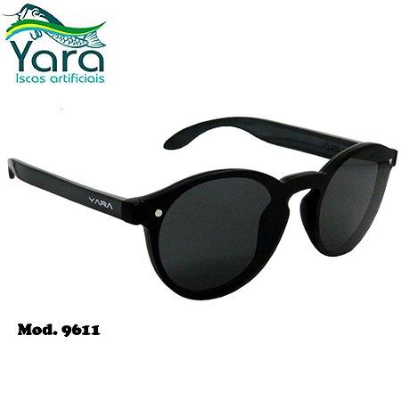 Óculos Polarizado Para Pesca Yara Dark Vision 9611 Casual Lente Smoke