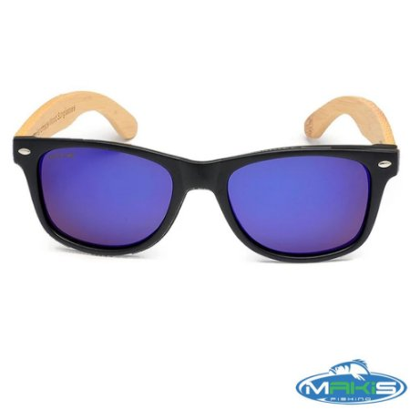 Óculos Polarizado Makis Fishing Bamboo HP 1389P C4 Lente Azul