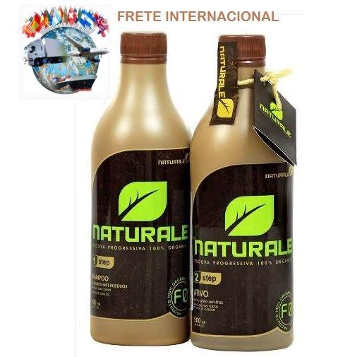 Kit Escova Progressiva 100% Orgânica NATURALE 500ml +  FRETE INTERNACIONAL INCLUSO