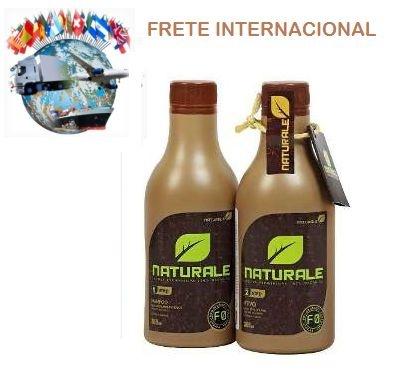 Kit Escova Progressiva 100% Orgânica NATURALE 300ml +  FRETE INTERNACIONAL INCLUSO