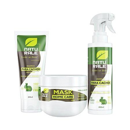 Naturale Vegana Cachos - Home Care - Kit Shampoo + Máscara + Leave-in
