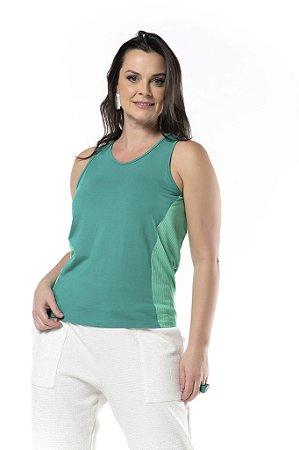Camiseta Viscose Lisa Detalhe Canelado
