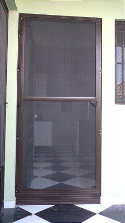 Porta Balcão Mosquiteira de Aluminio