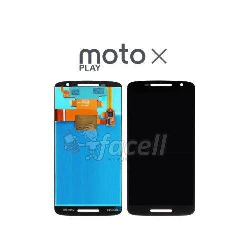 Touch + LCD (Frontal) Motorola Moto x  Play 1563 Preto - 1ª Linha
