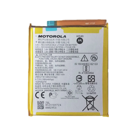 Bateria Moto  Z2 - Hd40 C/Cartela