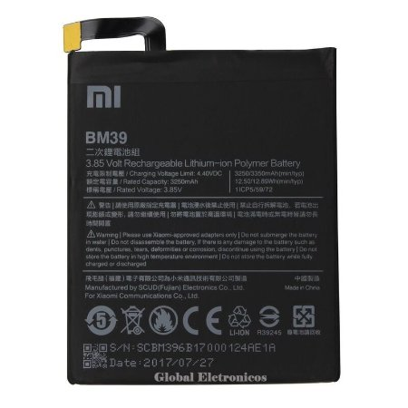 Bateria Xiaomi Mi 6 Bm39