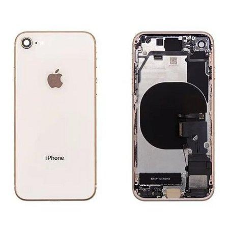 Carcaça iphone 8 Rose (Flex Carga)