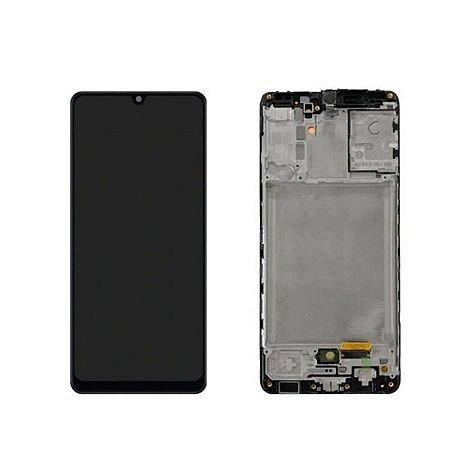 Frontal Samsung A31 - Incell Preto C/Aro
