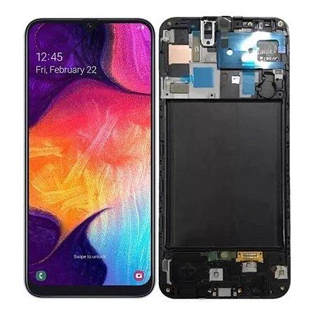 Frontal Samsung A50/A50S - Incell Preto C/Aro