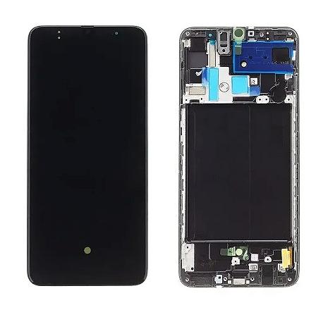 Frontal Samsung A70 - Incell Preto C/Aro
