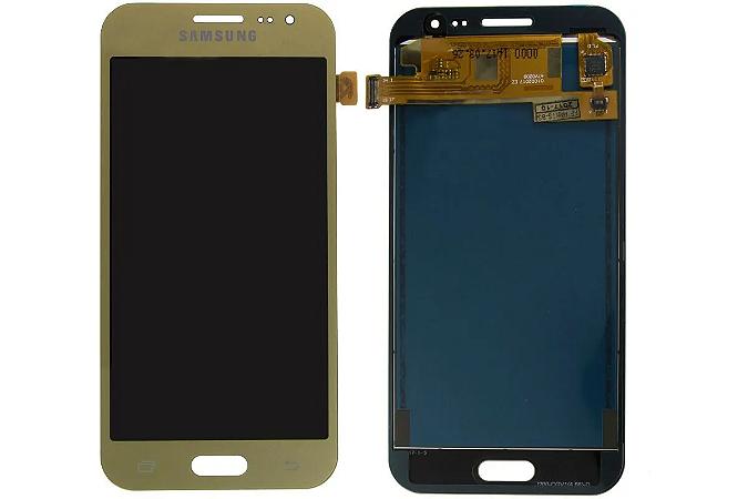 Frontal Samsung J210 - Qualidade AAA Dourado S/Aro