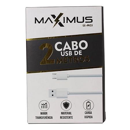 Cabo de Dados   Maximus  Ge-M03 V8 2 Metros