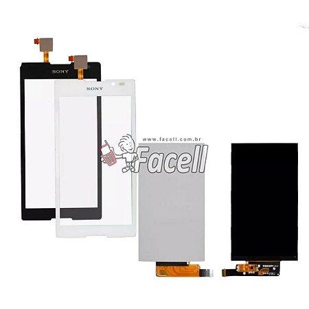 Kit Tela Touch + LCD Xperia C C2304 / C2305