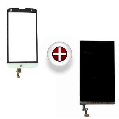 Kit Display LCD + Touch LG L Prime D337 Branco - 1ª Linha