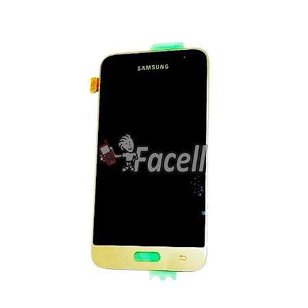 Touch + LCD (Frontal) Samsung J1 2016 J120F/DS Dourado - Original