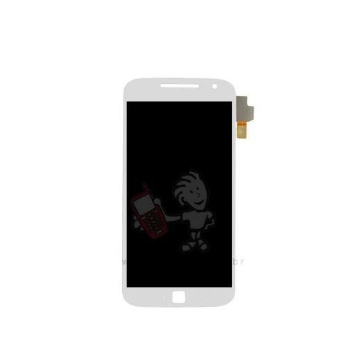 Touch + LCD (Frontal) Moto G4 Plus XT1640 / XT1644 - Branco C/Aro Original