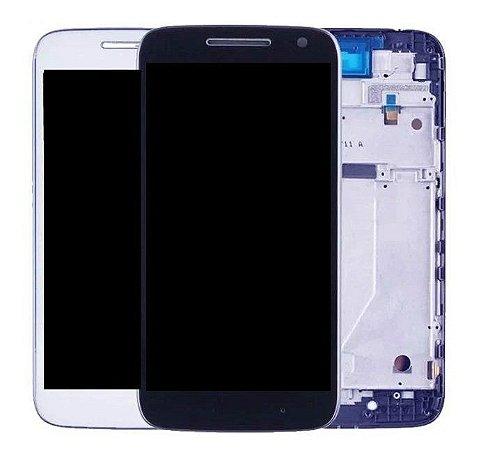Frontal Moto G4 Play XT1600 XT1603 Branco com Aro