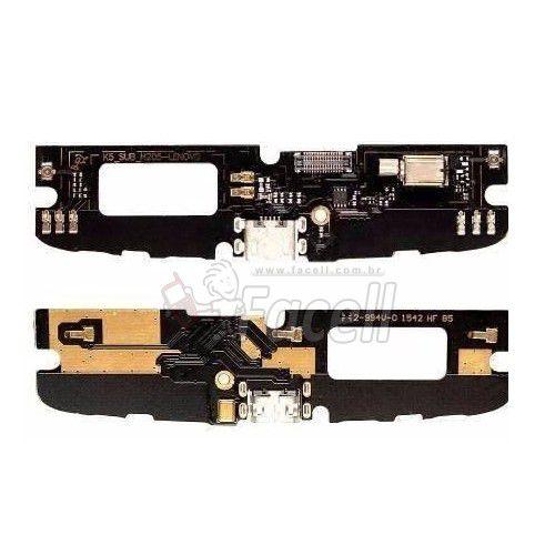 Placa Conector de Carga e Microfone Lenovo Vibe K4 A7010 A48