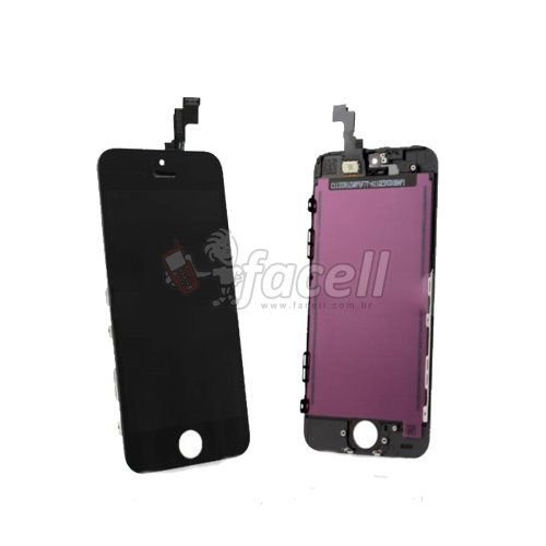 Touch + LCD (Frontal) iPhone 5C Preto  - AAA