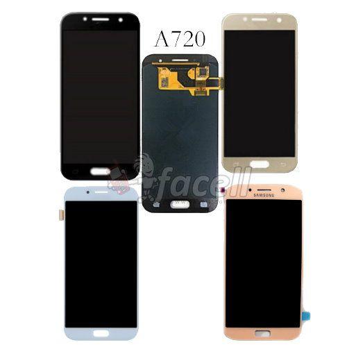 Frontal Samsung A7 2017 A720 Oled - Azul