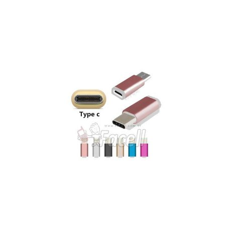 ADAPTADOR TIPO C PARA MICRO USB (V8) COLORIDO